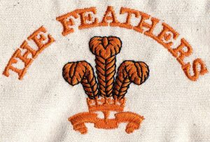 Embroidery of The Feathers Logo